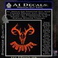 Bow Hunter Decal Sticker Skull Orange Emblem 120x120