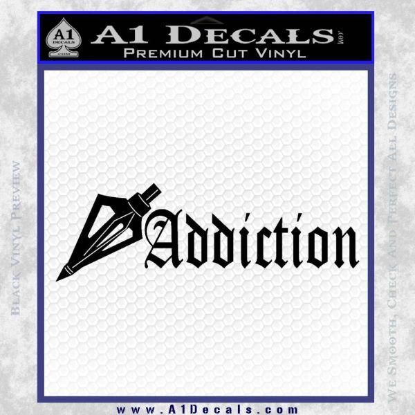Bow Hunting Addiction Decal Sticker Black Vinyl