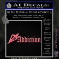 Bow Hunting Addiction Decal Sticker Pink Emblem 120x120