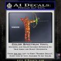 Bow Hunting Decal Sticker Archery Glitter Sparkle 120x120