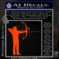 Bow Hunting Decal Sticker Archery Orange Emblem 120x120