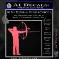 Bow Hunting Decal Sticker Archery Pink Emblem 120x120