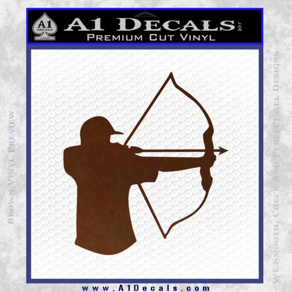 Bow Hunting Decal Sticker D1 BROWN Vinyl