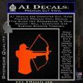 Bow Hunting Decal Sticker D1 Orange Emblem 120x120