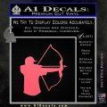 Bow Hunting Decal Sticker D1 Pink Emblem 120x120