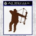 Bow Hunting Decal Sticker D2 BROWN Vinyl 120x120