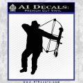 Bow Hunting Decal Sticker D2 Black Vinyl 120x120
