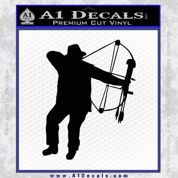 Bow Hunting Decal Sticker D2 Black Vinyl