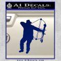 Bow Hunting Decal Sticker D2 Blue Vinyl 120x120