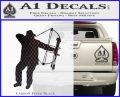 Bow Hunting Decal Sticker D2 Carbon FIber Black Vinyl 120x97