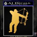 Bow Hunting Decal Sticker D2 Gold Vinyl 120x120