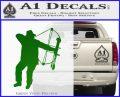Bow Hunting Decal Sticker D2 Green Vinyl Logo 120x97