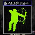 Bow Hunting Decal Sticker D2 Lime Green Vinyl 120x120