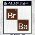 Breaking Bad Decal Sticker Element Squares BROWN Vinyl 120x120
