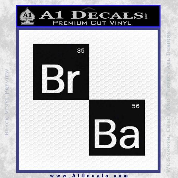 Breaking Bad Element Squares Decal Sticker Black Vinyl