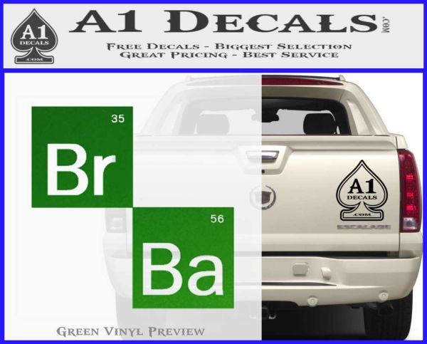 Breaking Bad Element Squares Decal Sticker 187 A1 Decals