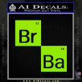 Breaking Bad Element Squares Decal Sticker Lime Green Vinyl 120x120