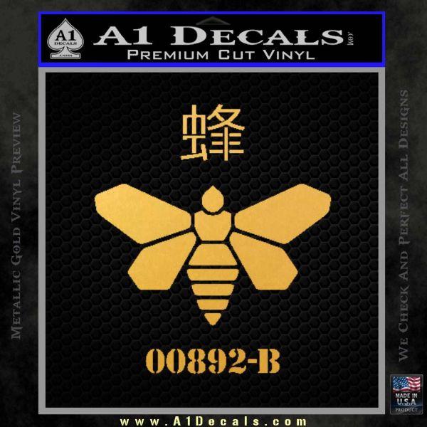 Breaking Bad Methylamine Ch3nh2 D1 Decal Sticker Gold Vinyl