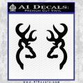 Browning Deer Decal Sticker Black Vinyl 120x120