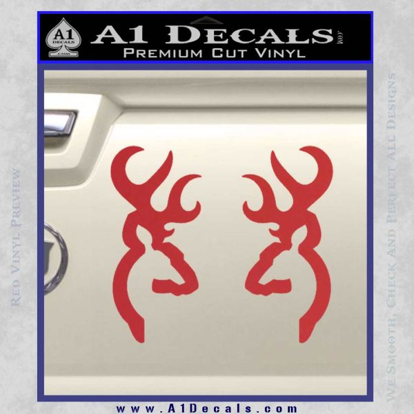 Browning deer decal sticker red 120x120