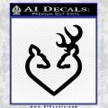 Browning Heart Decal Sticker Black Vinyl 120x120
