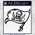 Buccaneers Flag Decal Sticker Black Vinyl 120x120