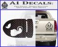 Bullet Bill Decal Sticker Super Mario Carbon FIber Black Vinyl 120x97