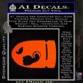 Bullet Bill Decal Sticker Super Mario Orange Emblem 120x120