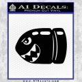 Bullet Bill Shark Decal Sticker Super Mario Black Vinyl 120x120