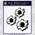 Bullet Holes Decal Sticker Black Vinyl 120x120