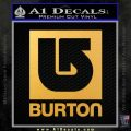 Burton Decal Sticker Full Gold Vinyl 120x120