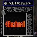 Bushnell Optics Decal Sticker Orange Emblem 120x120