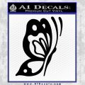 Butterfly D1 Decal Sticker Black Vinyl 120x120