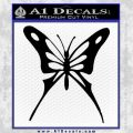 Butterfly D3 Decal Sticker Black Vinyl 120x120