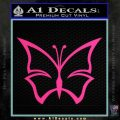 Butterfly D4 Decal Sticker Pink Hot Vinyl 120x120