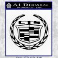 Cadillac CTS Full Wreath Text Decal Sticker Black Vinyl 120x120