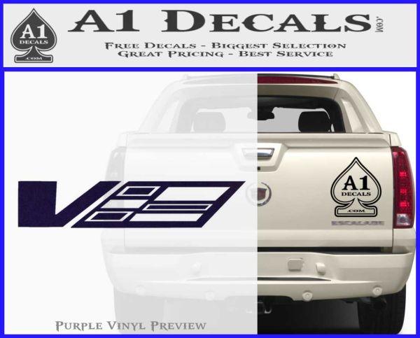 Cadillac cts v d1 decal sticker purpleemblem logo 120x97