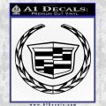 Cadillac New Logo Full Decal Sticker Black Vinyl 120x120