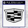 Cadillac New Shield Decal Sticker Black Vinyl 120x120