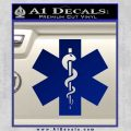 Caduceus Ems Emt Snake Staff Decal Sticker Blue Vinyl 120x120