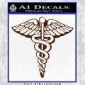 Caduceus Medical Symbol D1 Decal Sticker BROWN Vinyl 120x120