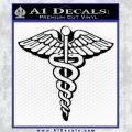 Caduceus Medical Symbol D1 Decal Sticker Black Vinyl 120x120