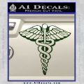 Caduceus Medical Symbol D1 Decal Sticker Dark Green Vinyl 120x120