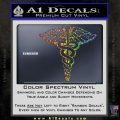 Caduceus Medical Symbol D1 Decal Sticker Glitter Sparkle 120x120