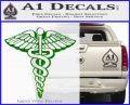 Caduceus Medical Symbol D1 Decal Sticker Green Vinyl Logo 120x97