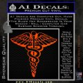 Caduceus Medical Symbol D1 Decal Sticker Orange Emblem 120x120