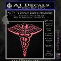 Caduceus Medical Symbol D1 Decal Sticker Pink Emblem 120x120