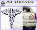 Caduceus Medical Symbol D1 Decal Sticker PurpleEmblem Logo 120x97
