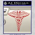 Caduceus Medical Symbol D1 Decal Sticker Red 120x120
