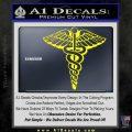 Caduceus Medical Symbol D1 Decal Sticker Yellow Laptop 120x120